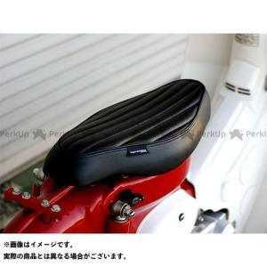 ケップスピード スーパーカブ50 カブ用 縦ライン カスタムシート(ブラック) motoride