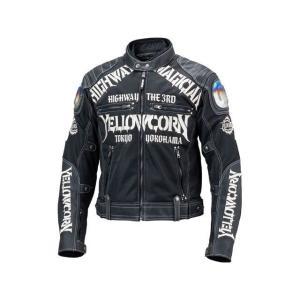 イエローコーン YeLLOW CORN 2019春夏モデル YB-9109 チタニウムメッシュジャケット ブラック アイボリー Lの商品画像|ナビ