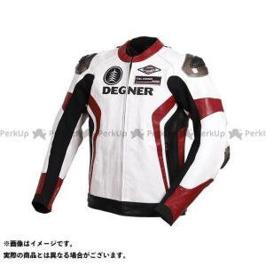 DEGNER デグナー 2019-2020秋冬モデル 19WJ-19 レザーレーシングジャケット(ホワイト/レッド) L|motoride