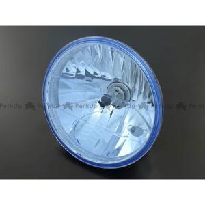 ブライテック 汎用 ヘッドランプ単体 ラウンドタイプ ブルー motoride