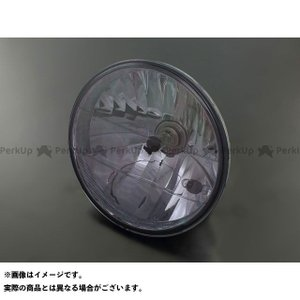 メーカー在庫あり ブライテック 汎用 ヘッドランプ単体 ラウンドタイプ スモークブラック motoride