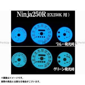 RISE CORPORATION Ninja250R(EX250K)用 ELメーターパネル ホワイトパネル グリーンorブルー発光 Ninja250R
