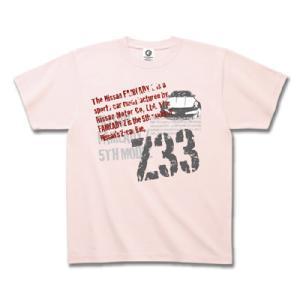 プリントロゴT 日産カスタムアパレルプロジェクト Z33 フェアレディZ 「Punky Z」 Tシャツ ライトピンク(tシャツ 半袖)(まとめ買いで送料無料)|motormagazine