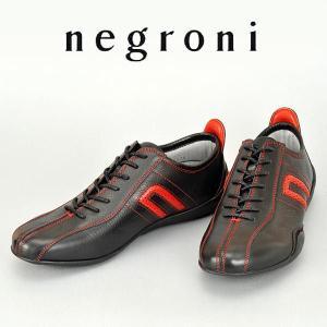 ネグローニ ドライビングシューズ イデア(NEGRONI IDEA)#154 ブラック×レッド メンズ(靴 シューズ カジュアル ドライブシューズ 本革)(送料無料)|motormagazine