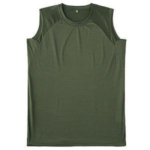 クールナイス スリーブレスシャツ 6528 OD101(2枚組)自衛隊衣料|motormagazine