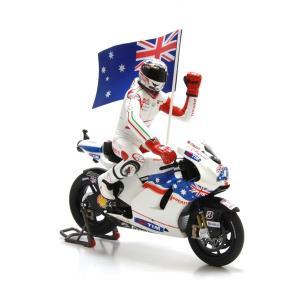 ミニチャンプス(MINICHAMPS)ドゥカティ DESMOSEDICI GP09 No.27 C.ストナー モトGP2009オーストラリア フィギュア付 1/12スケールミニチュアバイク motormagazine