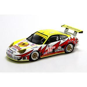 ミニチャンプス(MINICHAMPS)ポルシェ 911 GT3-RSR 2005セブリング クラス優勝 BERGMEISTER/LONG/LUHR 1/43スケールミニカー motormagazine