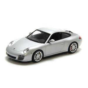 ミニチャンプス(MINICHAMPS)ポルシェ 911 カレラ4S 2008(シルバーメタリック)1/43スケールミニカー|motormagazine