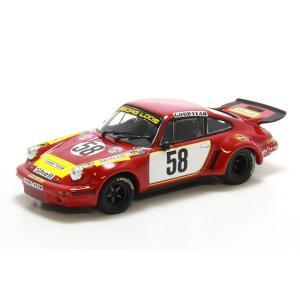 ミニチャンプス(MINICHAMPS)ポルシェ 911カレラRSR 3,0 GELO(ルマン1975 クラスウィナー)FITZPATRICK/V.LENNEP/SCHURTI 1/43スケールミニカー motormagazine
