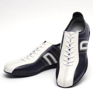 ネグローニ ドライビングシューズ イデア(NEGRONI IDEA)ビアンカ ホワイト×ブルー メンズ(靴 シューズ カジュアル ドライブシューズ 本革)(送料無料)|motormagazine