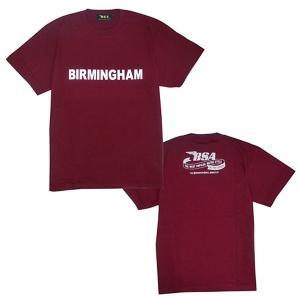 プリントロゴT BSA Tシャツ/バーミンガム/ワイン (T-Shirts/BSA BIRMINGHAM/Wine)(メンズ tシャツ ロゴtシャツ)(あすつく対応/まとめ買いで送料無料) motormagazine