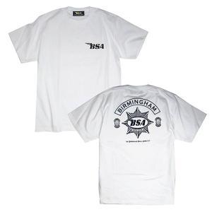 プリントロゴT BSA Tシャツ/ゴールドスター/ホワイト(T-Shirts/BSA GoldStar/White)(メンズ tシャツ ロゴtシャツ)(あすつく対応/まとめ買いで送料無料) motormagazine