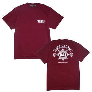 プリントロゴT BSA Tシャツ/ゴールドスター/ワイン(T-Shirts/BSA GoldStar/Wine)(メンズ tシャツ ロゴtシャツ)(あすつく対応/まとめ買いで送料無料) motormagazine