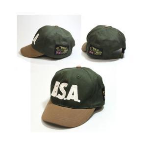 BSA ボールキャップ オリーブ (Ball cap/BSA/Olive)(あすつく対応/まとめ買いで送料無料) motormagazine