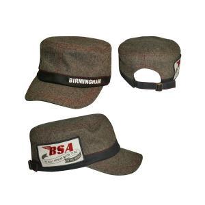 BSA ワークキャップ ブラックツィード (Workcap/BSA/Black tweed)(あすつく対応/まとめ買いで送料無料) motormagazine