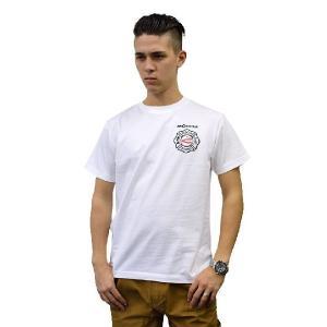 (まとめ買いで送料無料)プリントロゴT モリタ×レスキュースクワッド Tシャツ type7 ホワイト(メンズ tシャツ ロゴtシャツ ブランド 半袖)|motormagazine