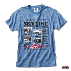 プリントロゴT 日産カスタムアパレルプロジェクト 半袖Tシャツ ケンメリ Advertising(KENMERI AD)オーセンティックブルー メンズ(まとめ買いで送料無料)|motormagazine