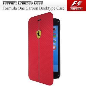 iPhone6専用 フェラーリ フォーミュラ1 ブックタイプケース レッド(Formula One PU Carbon Booktype Case for iPhone6)(アイフォン6(まとめ買いで送料無料)|motormagazine