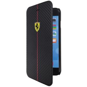 iPhone6 Plus専用 フェラーリ フォーミュラ1 ブックタイプケース ブラック(Formula One PU Carbon Booktype Case for iPhone6 Plus)(まとめ買いで送料無料)|motormagazine