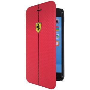 iPhone6 Plus専用 フェラーリ フォーミュラ1 ブックタイプケース レッド(Formula One PU Carbon Booktype Case for iPhone6 Plus)(まとめ買いで送料無料)|motormagazine