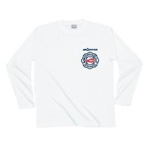 プリントロゴT モリタ×レスキュースクワッド ロングスリーブTシャツ type7 ホワイト(メンズ 長袖 ロンt プリント)(まとめ買いで送料無料)|motormagazine