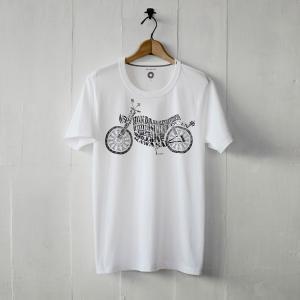 白いTシャツと黒いバイク。 「backfire」 半袖Tシャツ(送料無料)|motormagazine