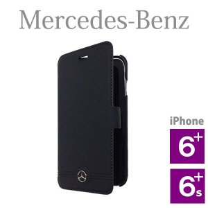 メルセデス・ベンツ 本革ブックタイプケース フロントグリル ブラック (iPhone 6 Plus/6S Plus用) Pure Line Genuine leather Front Grill Booktype case|motormagazine