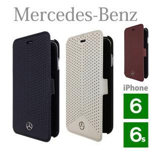 メルセデス・ベンツ パンチングレザー ブックタイプケース (iPhone 6/6S用) Pure Line Genuine leather Perforated Booktype case(送料無料)|motormagazine