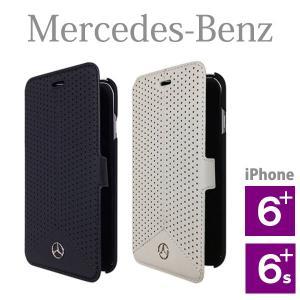 メルセデス・ベンツ パンチングレザー ブックタイプケース (iPhone 6 Plus/6S Plus用) Pure Line Genuine leather Perforated Booktype case(送料無料)|motormagazine