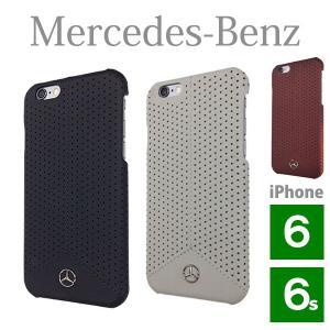メルセデス・ベンツ パンチングレザー ハードケース (iPhone 6/6S用) Pure Line Genuine leather Perforated  Hard case(送料無料)|motormagazine