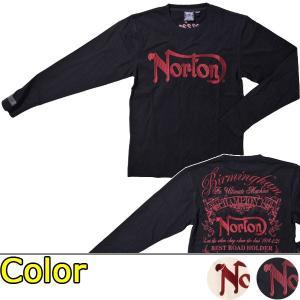 ノートン(Norton)レッドプリントロンTee(送料無料/あすつく対応)|motormagazine