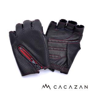 カカザン(CACAZAN)ドライビンググローブ DDR-050 ブラック×レッド(送料無料)|motormagazine