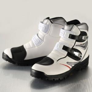 GAERNE(ガエルネ)ライディングブーツ タフギア ホワイト(ライディングシューズ 靴 くつ シューズ バイク用品 ブーツ メンズ バイク)|motormagazine