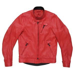 シンイチロウ アラカワ(SHINICHIRO ARAKAWA)レザーライダースジャケット レッド(秋服 ジャケットのおしゃれ メンズファッション メンズのファッション冬|motormagazine