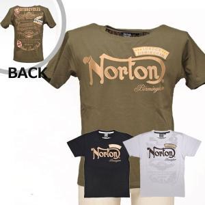 【在庫処分セール/値下げ】ノートン(Norton)吸水速乾ワッペン付きTシャツ(送料無料/あすつく対応) motormagazine