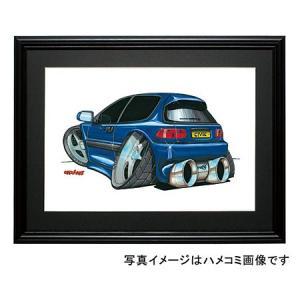 イラスト シビック(EG・青)|motorparade