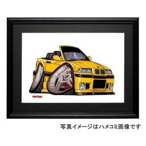 イラスト BMW E36 M3カブリオレ(黄・前)|motorparade