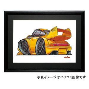 イラスト ポルシェ911GT-2(993・黄)|motorparade