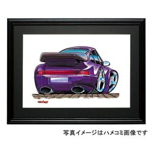 イラスト ポルシェ911カレラターボ(紫)|motorparade