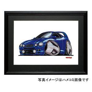 イラスト セリカGT-FOUR(6代目ST-205・青)|motorparade