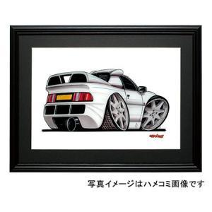 イラスト フォード・RS200(白・後ろ)|motorparade