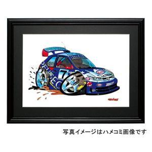 イラスト プジョー306(MAXIラリー・NO.7)|motorparade