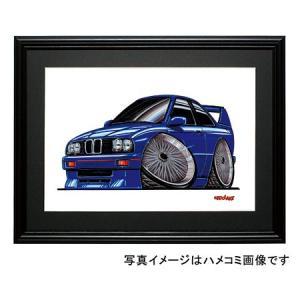 イラスト BMW E30 M3(青・前)|motorparade