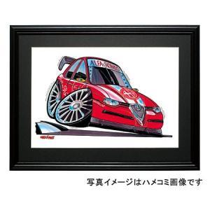 イラスト アルファ156(ツーリングカー)|motorparade