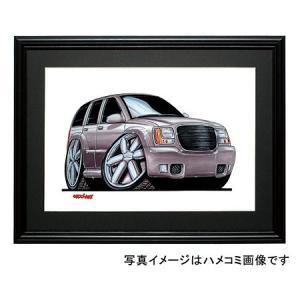 イラスト GMCユーコン・デナリ(銀)|motorparade
