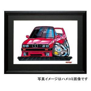 イラスト BMW E30(赤・コンバチ)|motorparade