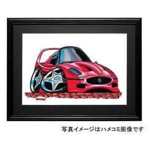 イラスト フェラーリF50|motorparade