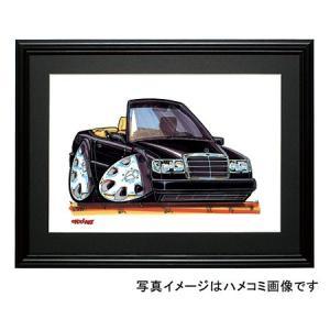 イラスト Eクラス W124(カブリオレ・黒)|motorparade