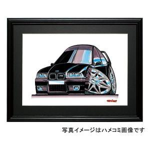 イラスト BMW E36 M3(黒)|motorparade