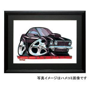 イラスト マスタング(初代・黒)|motorparade